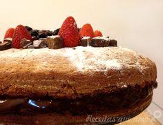 Naked cake de baunilha com chocolate