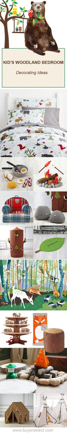 Kid's Bedroom Ideas | Theme Rooms | Camping & Woodland Bedroom