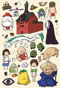 Spirited Away Studio Ghibli Character Doodles by PenelopeLovePrints on DeviantArt
