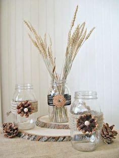 Fall craft - super cute pinecone flowers!
