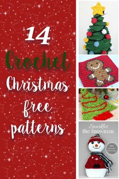 Crochet Designs Check out all these Christmas Free Crochet Patterns. A compilation of FREE crochet patterns, specially put together for your convenience. Find them all together in one place and chose your favorite to make. Diy Crochet, Crochet Crafts, Crochet Projects, Simple Crochet, Crochet Tutorials, Crochet Ideas, Diy Projects, Crochet Mittens Pattern, Crochet Patterns