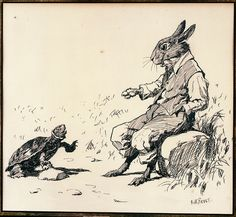 Arthur Burdett Frost (1851-1928),Terrapin speaking to Brer Rabbit, for Uncle Remus, His Songs and Sayings, 1895