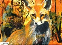 Fox By Iszy Church aged 13, 2014 Acrylic paint
