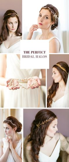 6 Perfect Bridal Halos and Bridal Crowns // www.victoriamillesime.co.uk