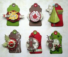 Scrapbook Christmas Gift Tags | ... Tags, Christmas Tags, Scrapbook, Paper Crafts, Christmas Gift Tags