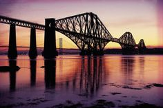 The Forth Bridge over the Firth of Forth with the Forth Road Bridge in the distance, Edinburgh, Scotland By Train, Picture Credit, Sydney Harbour Bridge, Heritage Site, Photo Mugs, Cool Pictures, Poster Prints, Art Print, Australia