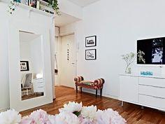 IKEA large white mirror