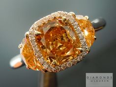 orange diamonds   Orange Diamond   Yellow Diamond   Cushion Cut Diamond