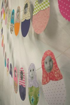 matryoshka photo garland