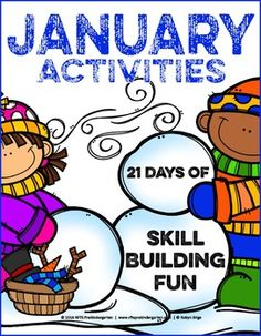 January - 21 Skill Building Activities168 pagesJanuary pack is chocked full of 21 skill building activities that is sure to offer up tons of learning and fun throughout the month.  This is the perfect activity pack for winter. This packet offers enough winter FUN to engage and challenge every child in your classroom.