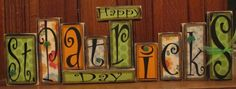 St. Patrick's Day Sign  Happy St. by PunkinSeedProduction on Etsy, $66.00