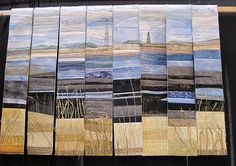 textile artist photography and mixed media – Carolyn Saxby Textile Art St Ives C… photographie d'artiste textile et techniques mixtes – Carolyn Saxby Art textile St Ives Cornwall Ocean Quilt, Beach Quilt, Quilt Festival, Art Festival, Art Textile, Textile Artists, Nautical Quilt, Fiber Art Quilts, Landscape Art Quilts