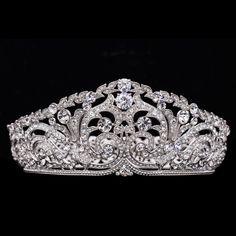 Big Tiara,Bridal Crown, Headbands Wedding Hair Accessories,Women Hair Jewelry SHA8708