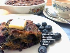 Grain Free, Dairy Free Banana Blueberry Coffee Cake