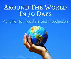 Around the World in 30 Days. Geography and cultural activities for toddlers and preschoolers from 30 different countries. Preschool At Home, Preschool Themes, Preschool Learning, Kindergarten Activities, Toddler Preschool, Preschool Activities, Preschool Spanish, Around The World Crafts For Kids, Around The World Theme