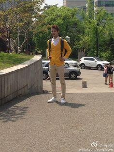 130513 Minho Spotted at KonKuk University