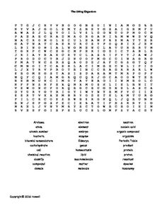 Cells and their Structures Word Search for Middle School