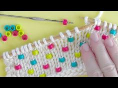 How to Knit Beads | Knitting Technique - YouTube