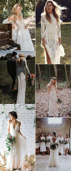 boho wedding dresses for 2018 trends