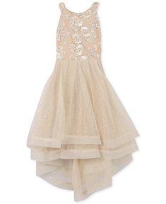 f03751a6cb7 Big Girls Embroidered Glitter-Mesh Dress