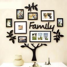 Frame Set Family Tree 2mm Thick Shinny Finish Wall Art Modern Style Material: Acrylic Multi-Piece Package 60 x 60 inches Size 3D Art