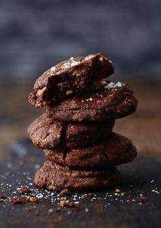 Dark Chocolate Chip Cookies with Peanut Butter & Sea Salt (Gluten-Free ...