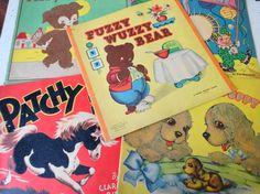 Vintage Set of 5 Fuzzy Wuzzy Children's Books by IndianaJunque