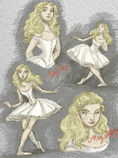 """Meg Giry""Here are some of my designs for Meg Giry, whom we all love so much! Love, Beckarooo!!!http://beckylaff.blogspot.com"