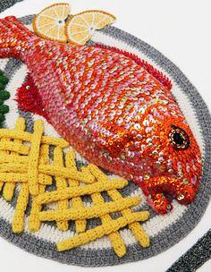 Crocheted Art par Kate Jenkins : Fast Food et Plats en Crochet