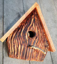 Upcycled Reclaimed Bird House Nest Box for Bluebird by CraftyGuys, $40.00