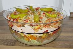 Daphnes schlanker Gyros - Schichtsalat (Rezept mit Bild)   Chefkoch.de