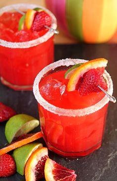 A Very Berry Blood Orange Margarita
