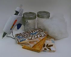 Canning jar pin cushion - makes great gift for sewing friends! Fill with thread, extra bobbins, pins, etc...