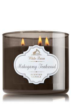 Mahogany Teakwood 3-Wick Candle - Home Fragrance - Bath & Body Works