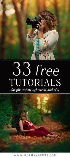 33 Free Tutorials for Photoshop, Lightroom, & Adobe Camera RAW!