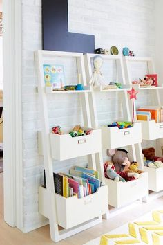 architecturally cool shelving for kids stuff