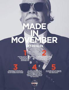 Les règles de Movember - La râpe à fromage