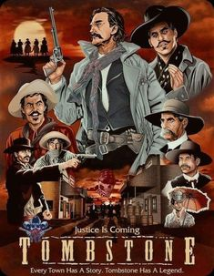 Tombstone 1993, Tombstone Arizona, Film Poster Design, Old Movie Posters, Western Cowboy, Old Movies, Classic Movies, Wild West, Cowboys