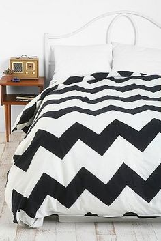 Urban Outfitters Bedding - love the chevron