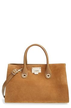f7083c107a Jimmy Choo  Riley  Suede  amp  Leather Tote available at  Nordstrom Soft  Suede