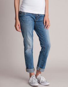 Over Bump Maternity Boyfriend Jeans