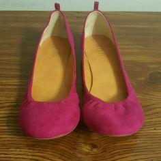 Magenta flats *REDUCED* Worn less than a handful of times. Magenta suede. a.n.a Shoes Flats & Loafers