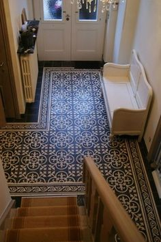 Ideas For House Entrance Foyer Hallways Patterned Floor Tiles, House Entrance, Foyer Decorating, Flooring, Hallway Designs, Painting Tile Floors, Tile Stairs, Tiles Price, Tiled Hallway
