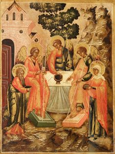"IC.XC__ "" Η φιλοξενια του Αβρααμ."" Η Αγία Τριάδα "" ("