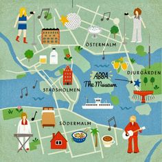 Fuchsia MacAree - Abba heavy map of Stockholm