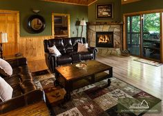 Riversong Romance - Lovely cabin on the inside and out.  With a gorgeous view of the Smokies, this 2 bedroom cabin is the complete package!