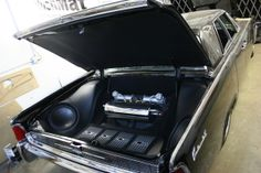 theshopllc Lincoln car stereo trunk install.