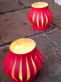 Light your front walkway with these beautiful lanterns. Make them the same way as you would the handheld ones, only bigger!