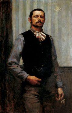 Autoportrait, 1891  ~ Georges Desvallières ~ (French: 1861-1950)
