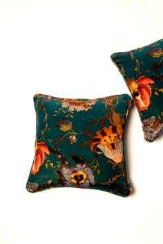 Our teal Hackney pillows go with just about anything! Pillow Crush | Patina